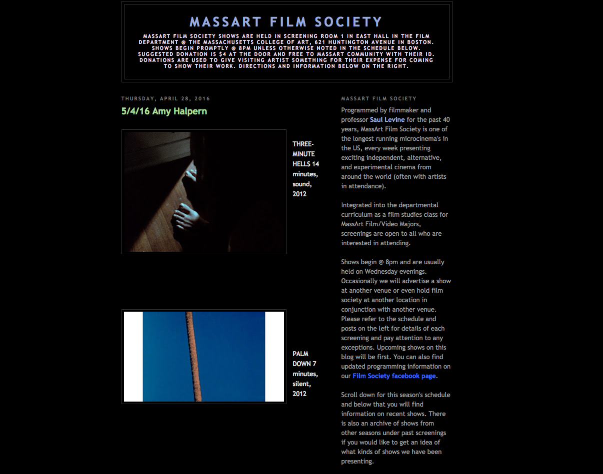 MassArt blog 5:16 p.1